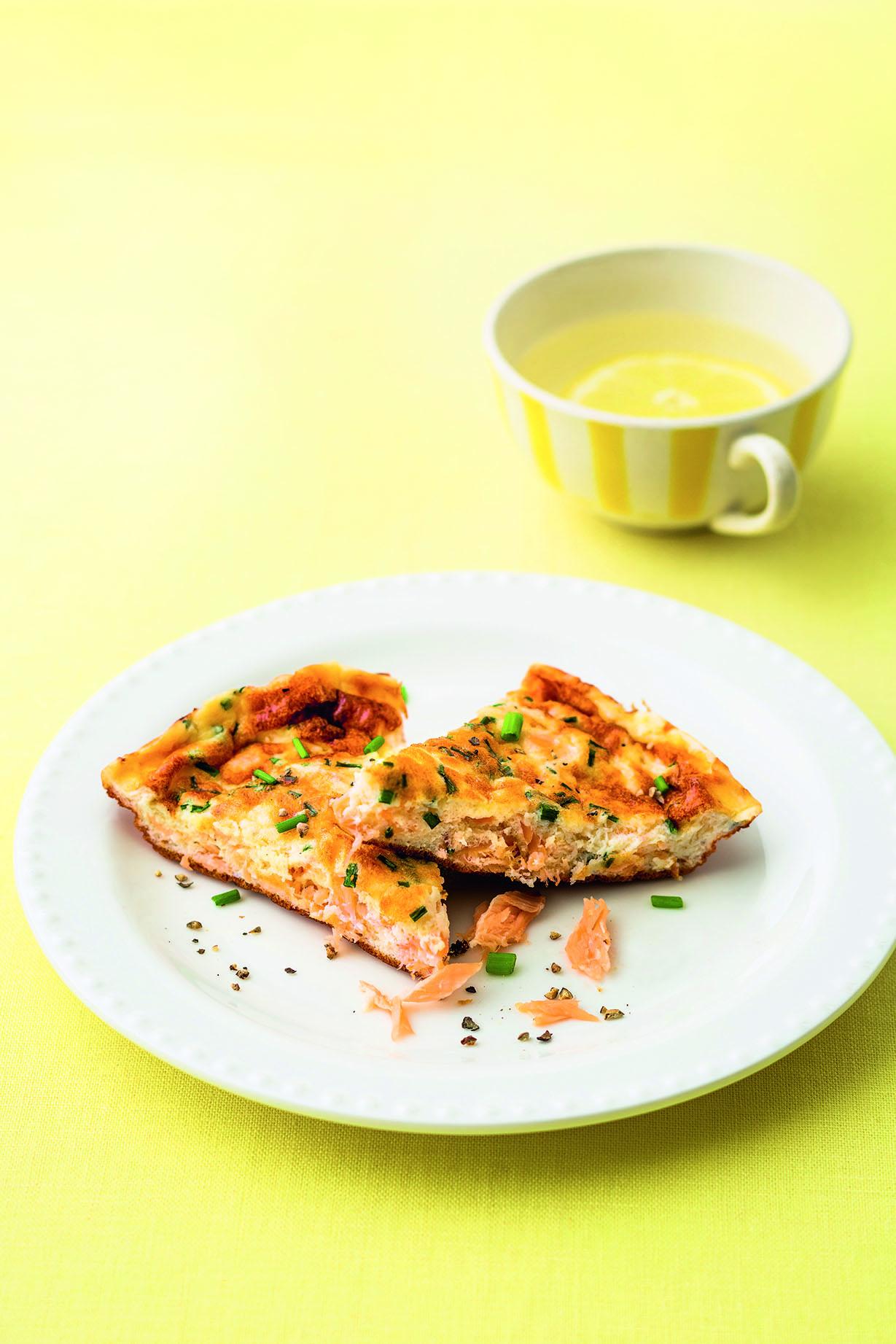 Hot Smoked Salmon Frittata