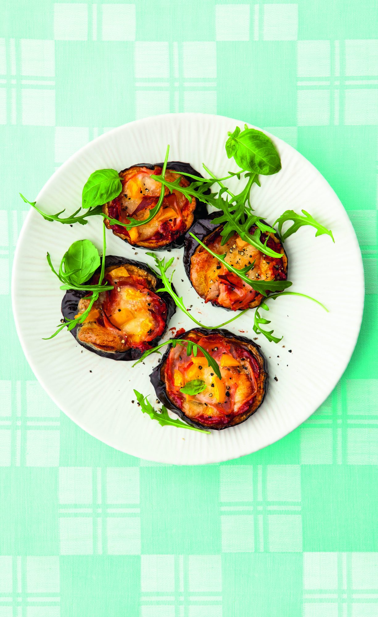 Eggplant  Pizzettes