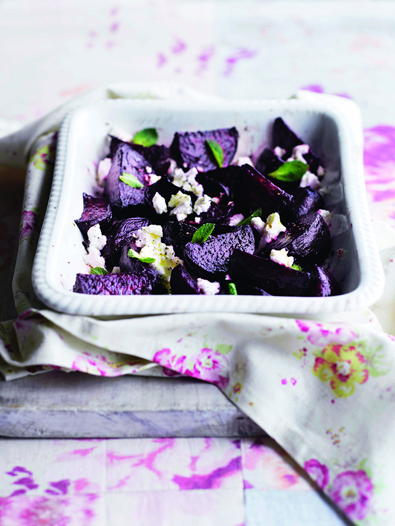 oh- Roasted Minty Beets with Goat Cheese