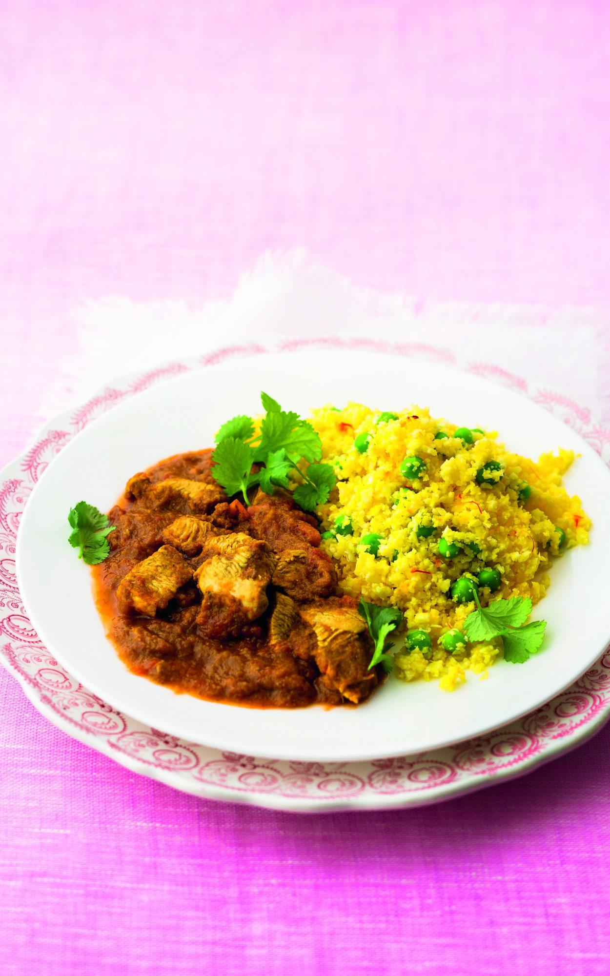 oh- Chicken Masala with Cauliflower and Saffron Rice