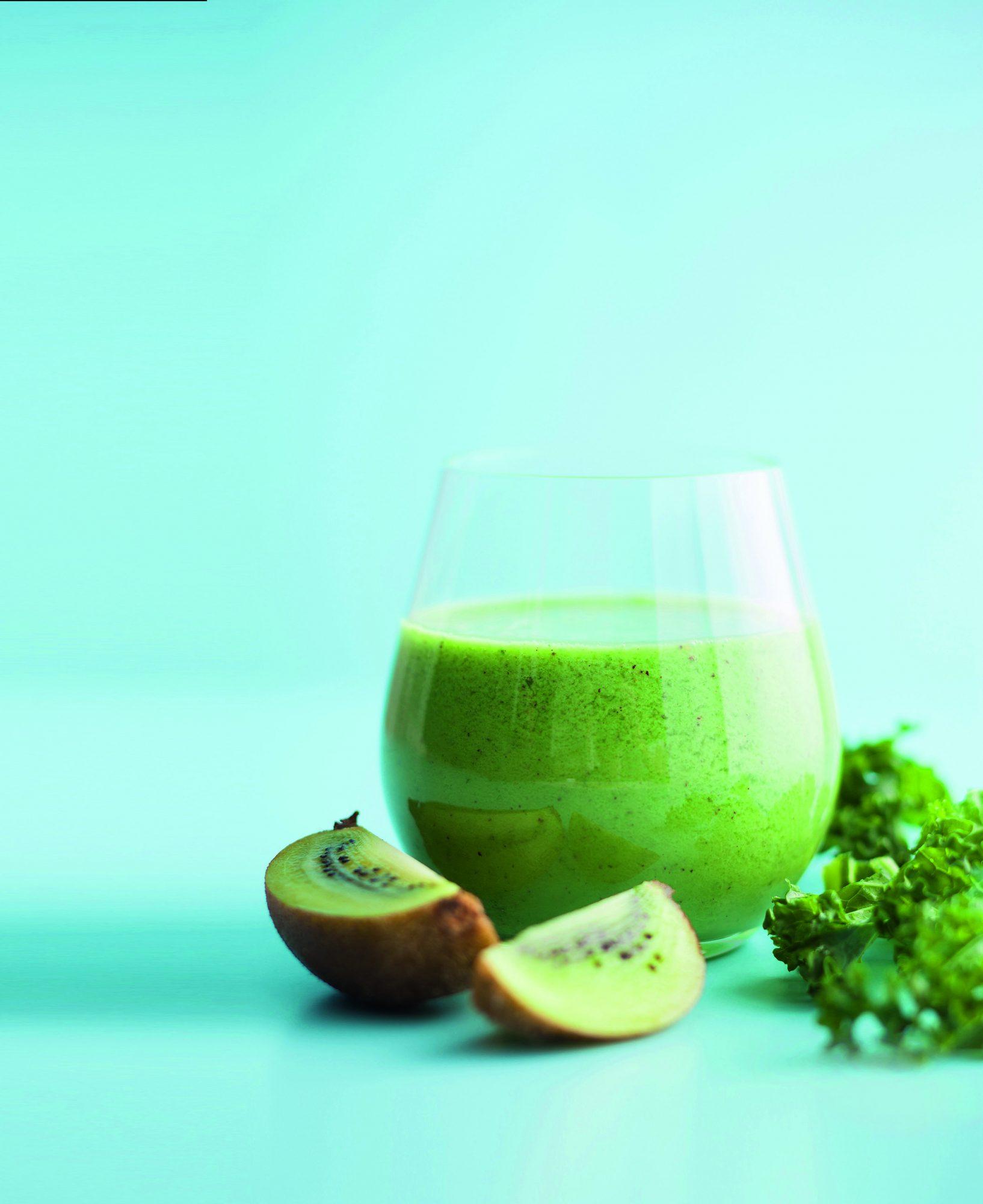 oh- Kale, Kiwi, and Apple Juice