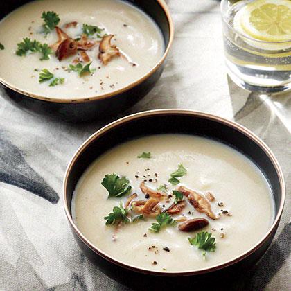 Cauliflower Soup with Shiitakes Recipe