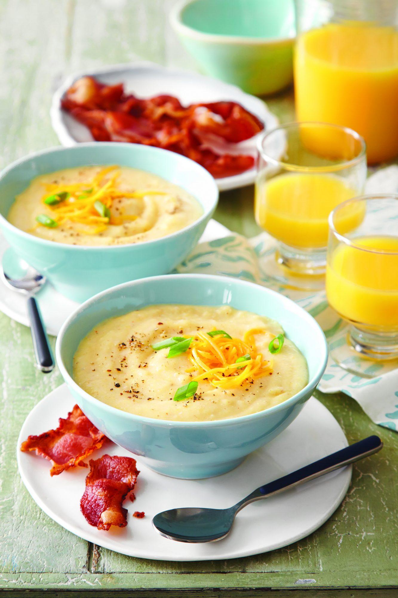 Ground Corn Breakfast Bowls