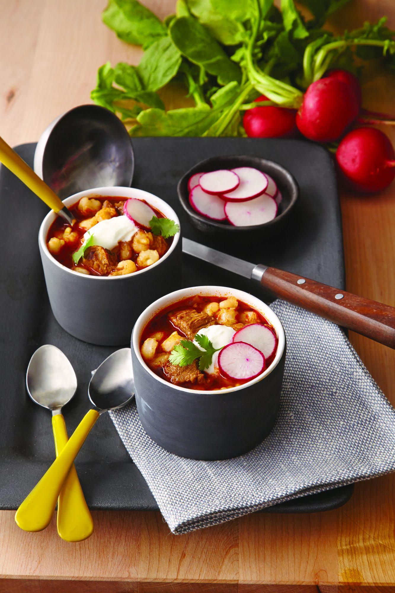 Smoky Pork and Hominy Soup