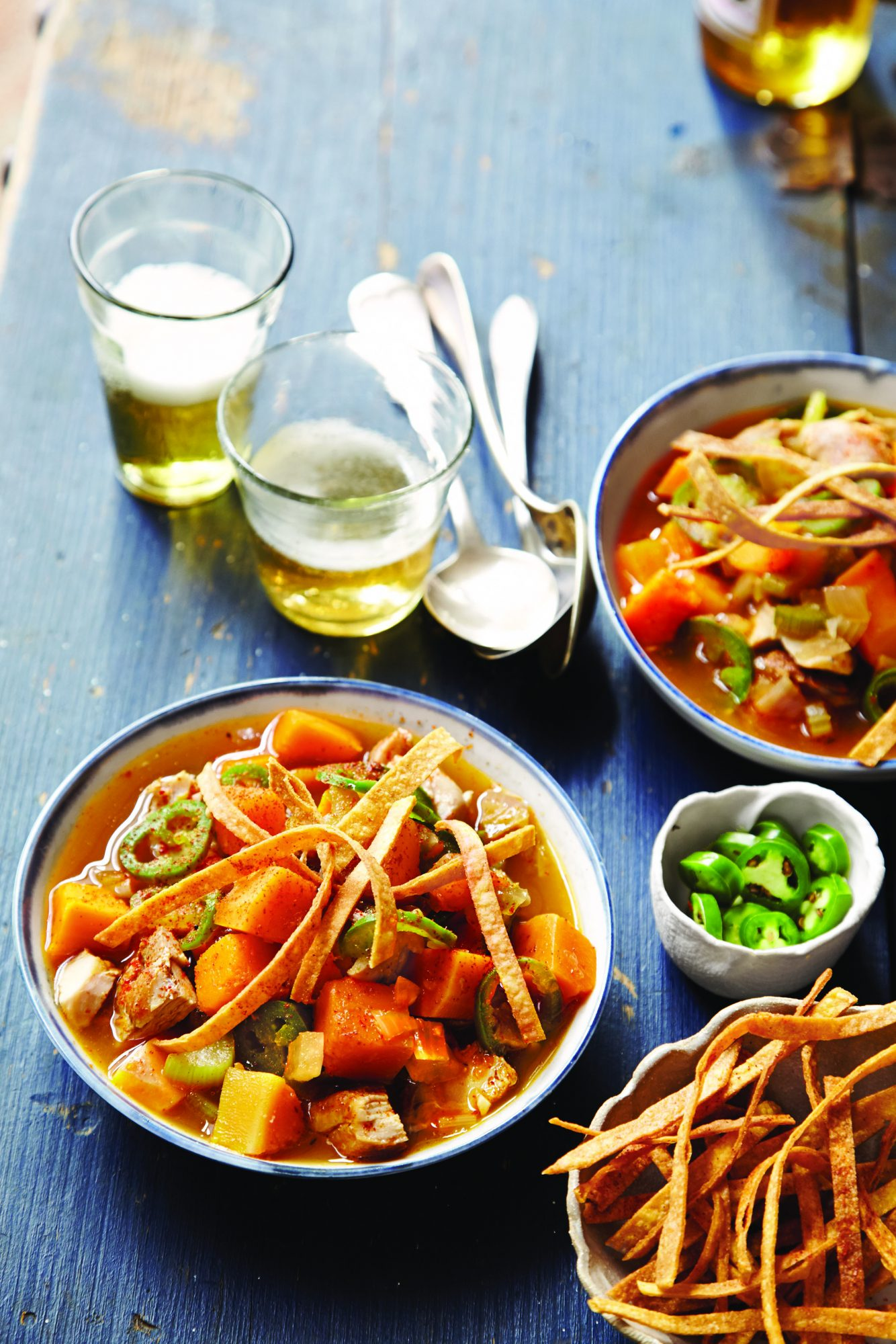 Spicy Chicken and Butternut Squash Tortilla Soup