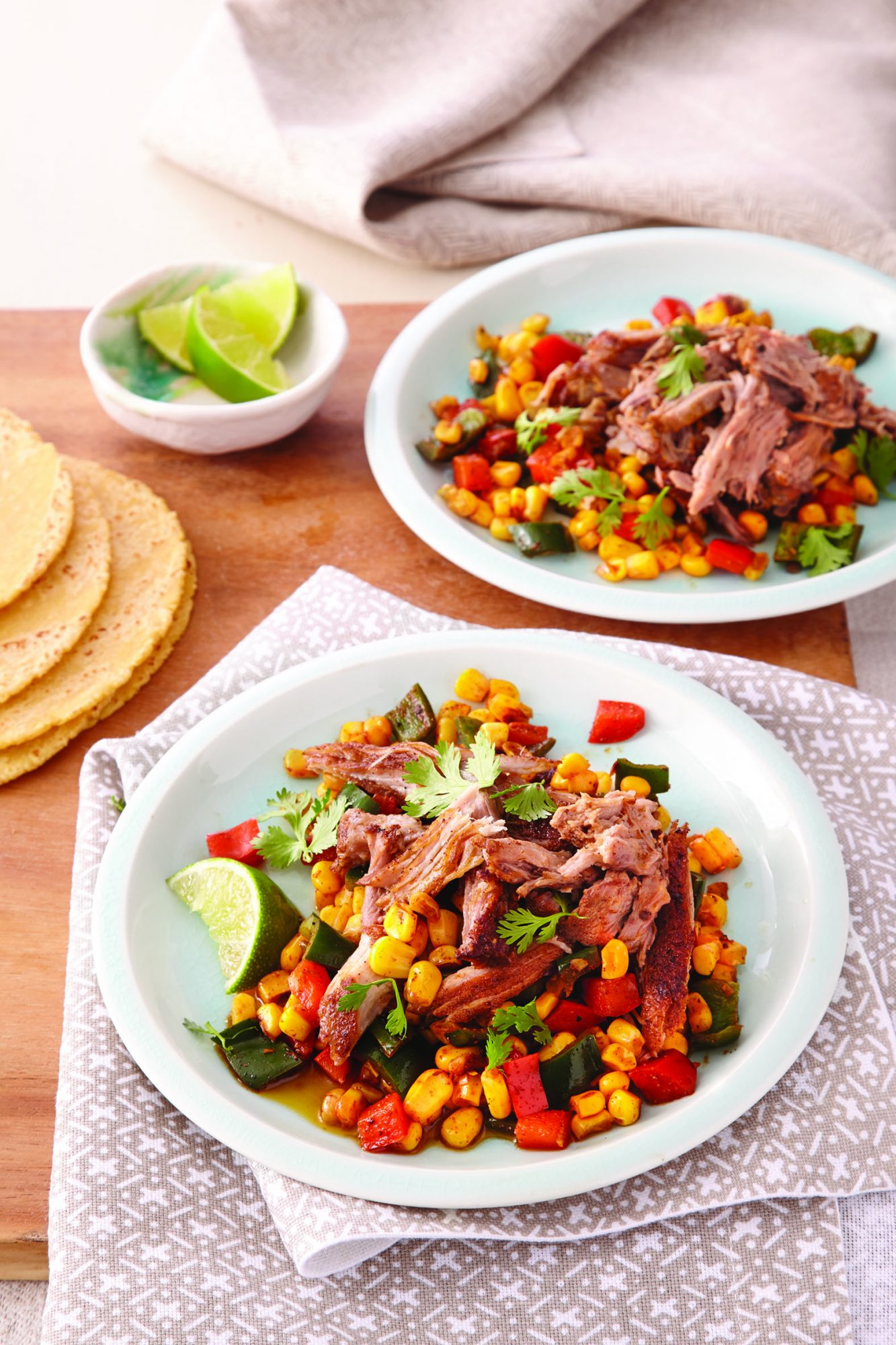 Cumin Pork and Poblano Corn