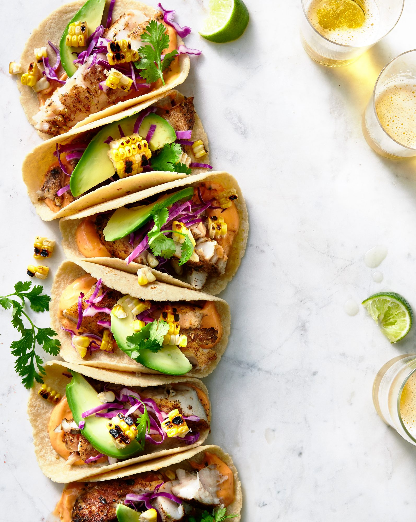 Grilled Corn and Fish Tacos