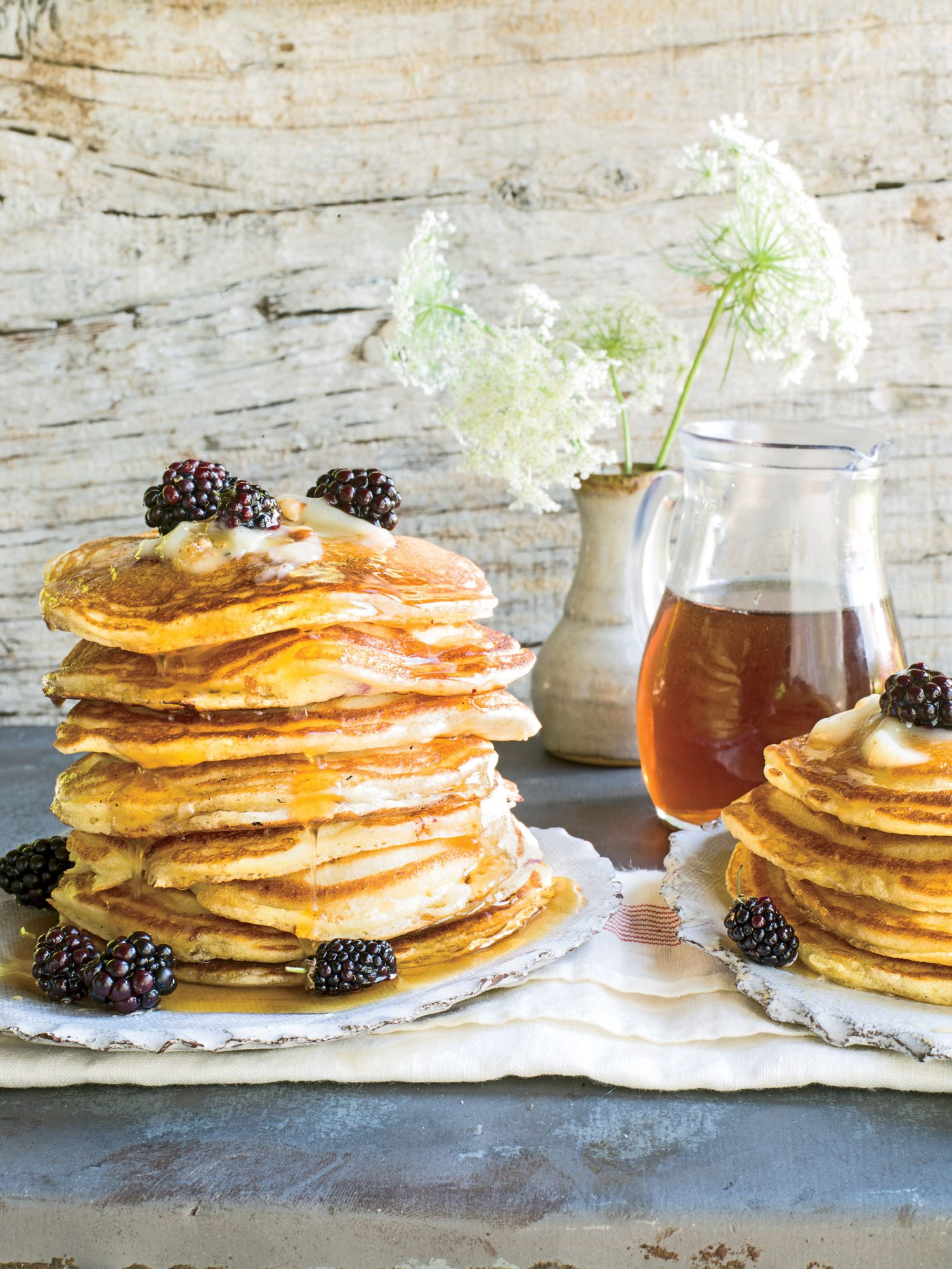 blackberry-lemon griddle-cakes