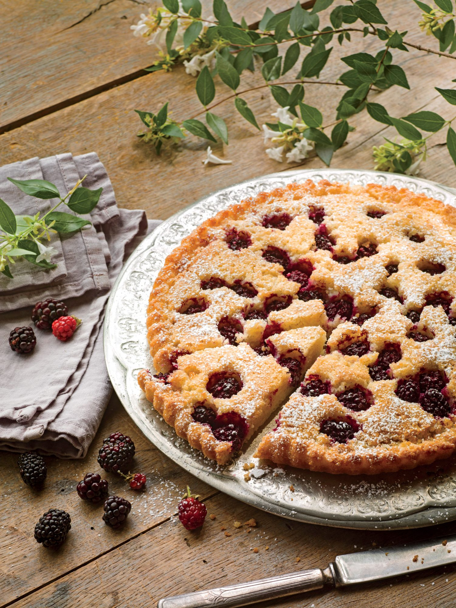 blackberry-browned-butter-and-almond-tart