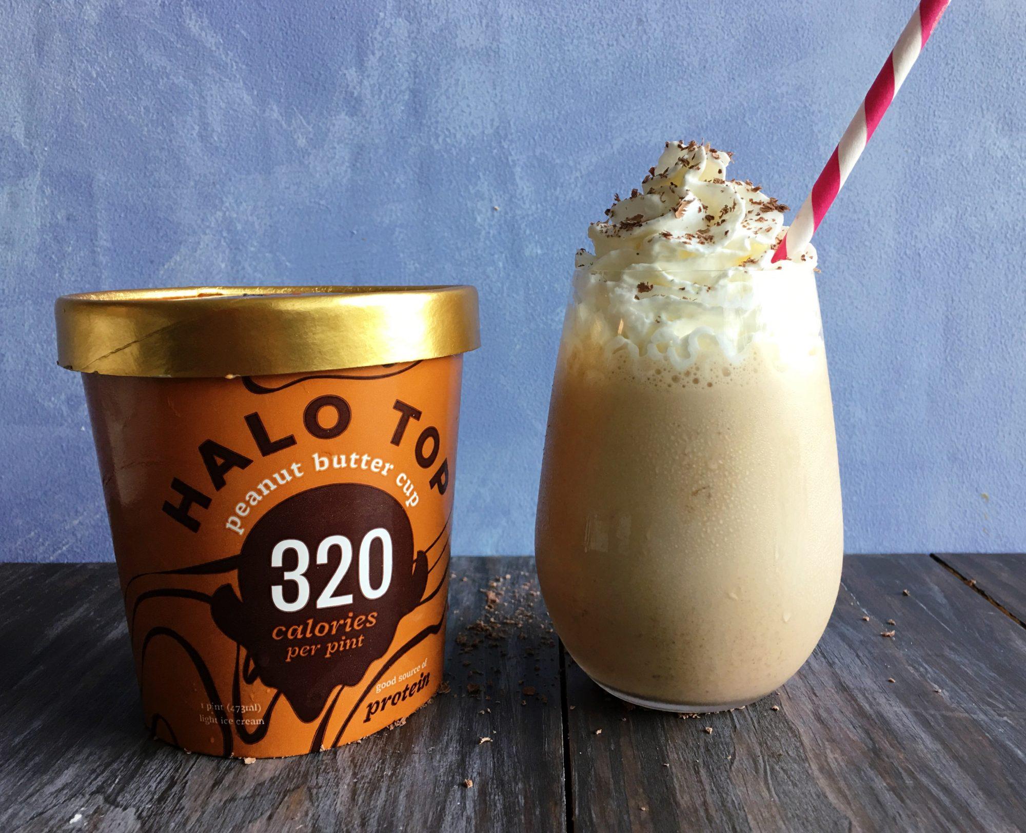 Peanut Butter Cup Halo Top Milkshake