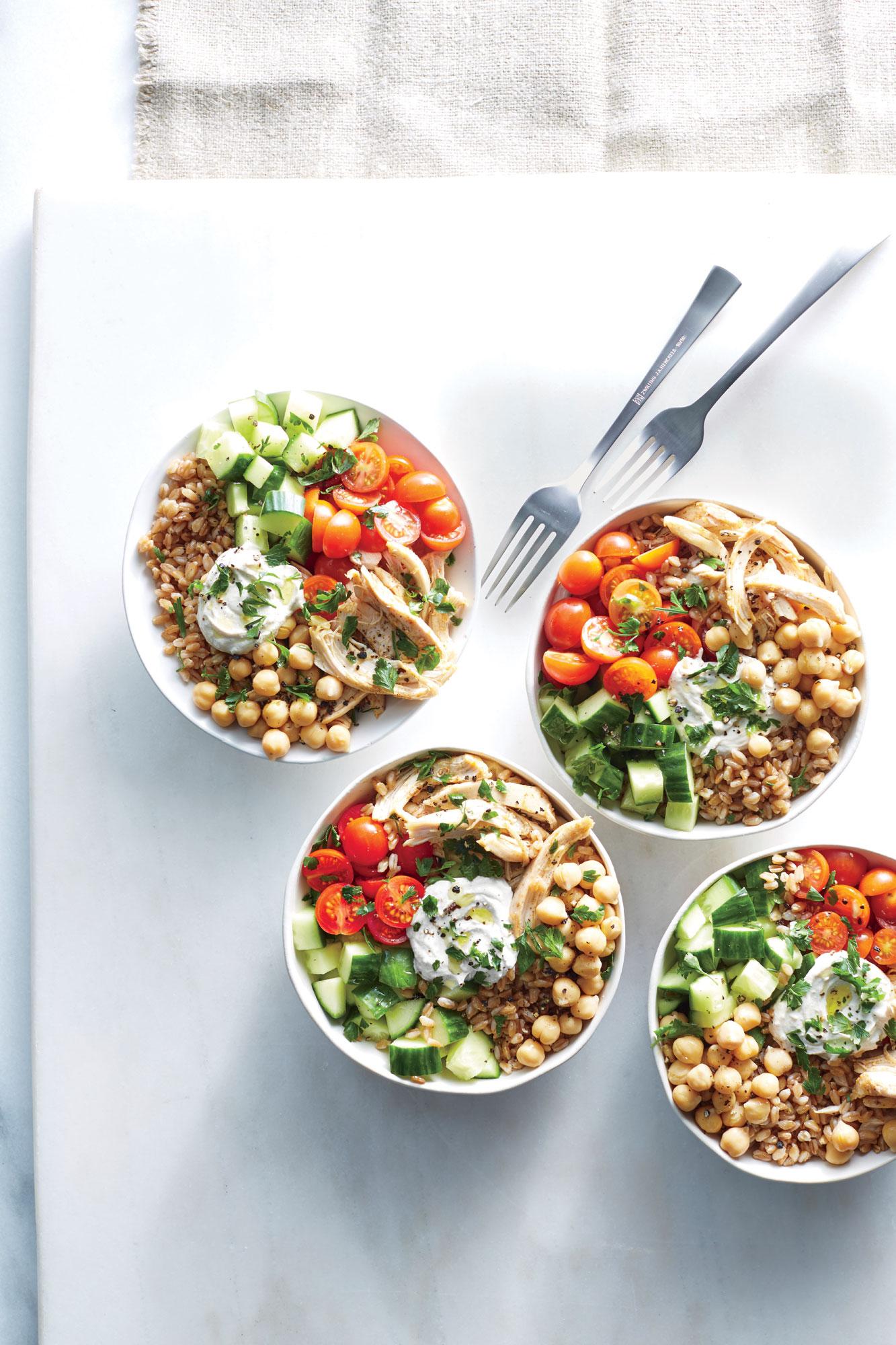 15-Minute Chicken Shawarma Bowls