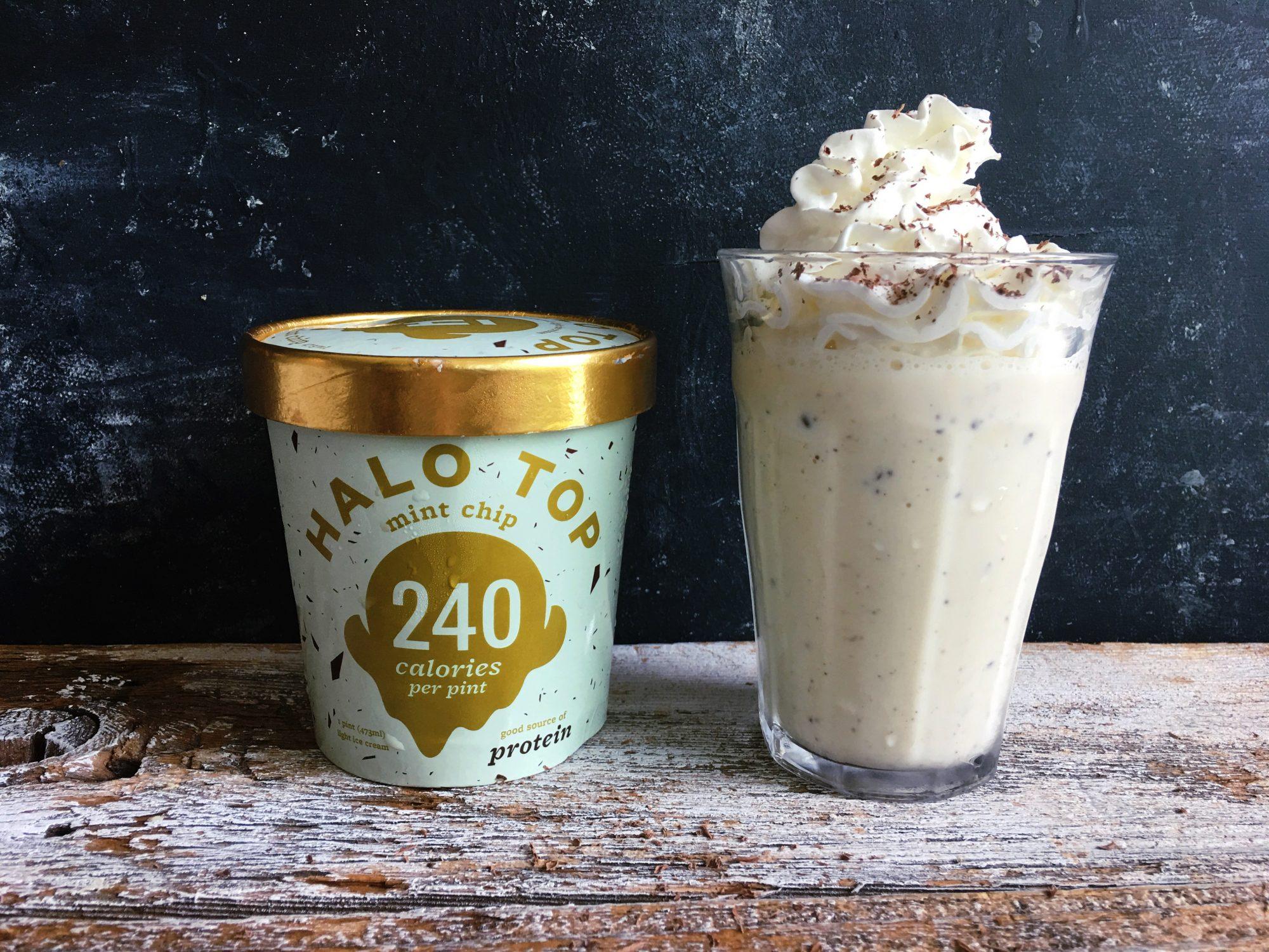 Mint Chip Halo Top Milkshake