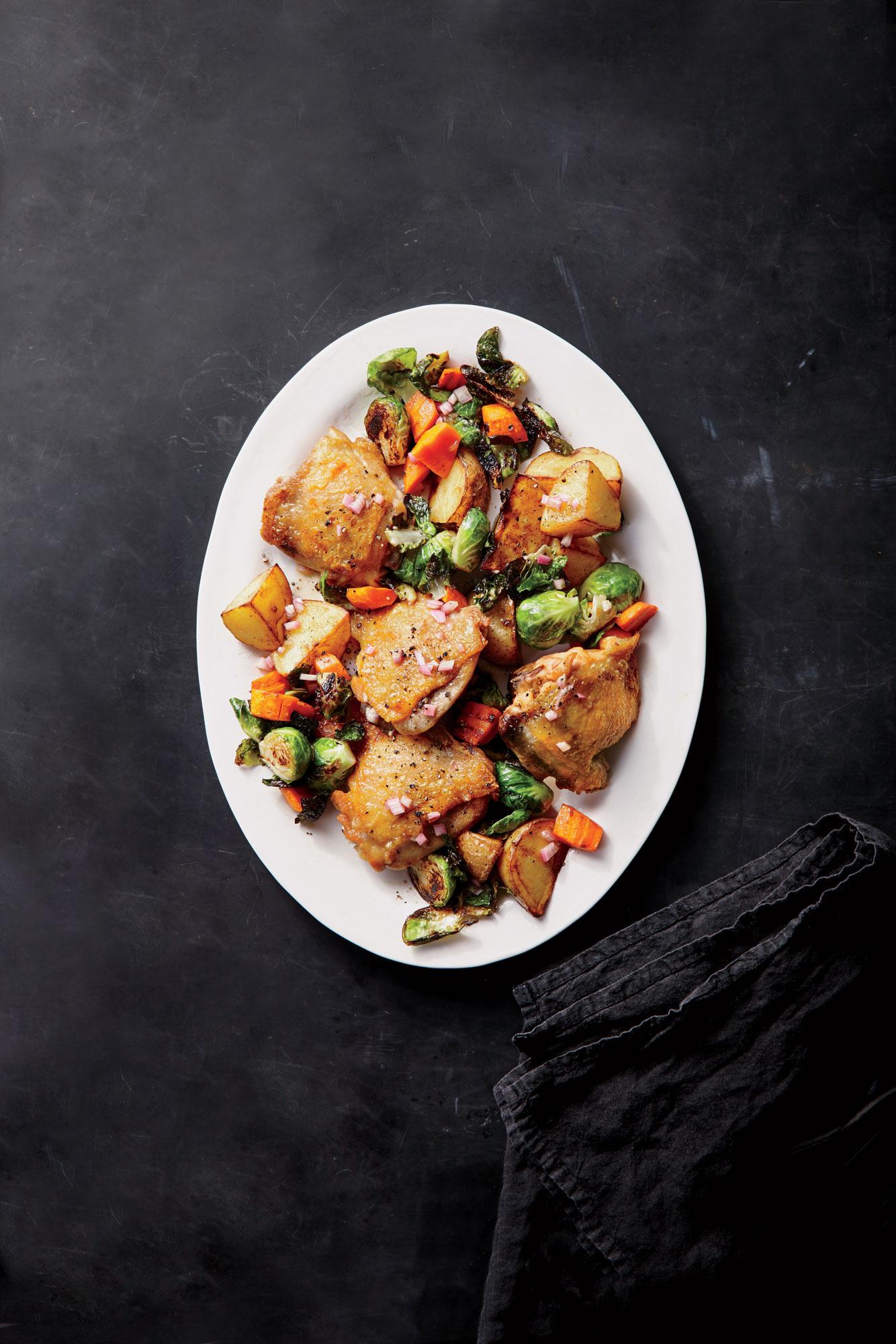 ck-Crispy Chicken Thighs with Schmaltzy Vinaigrette