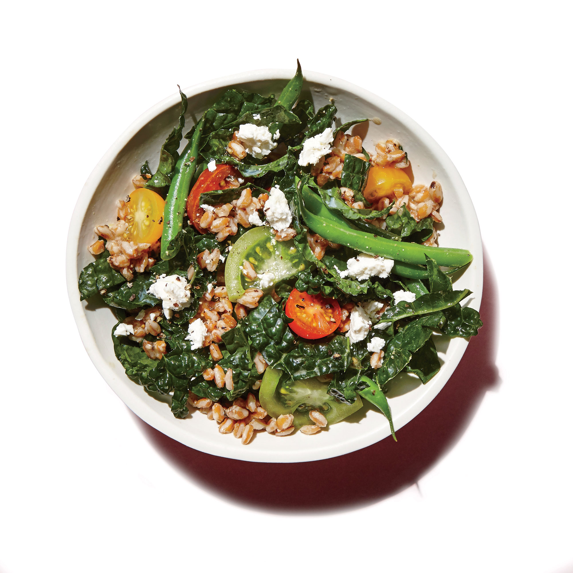 Farro, Green Bean, and Kale Salad