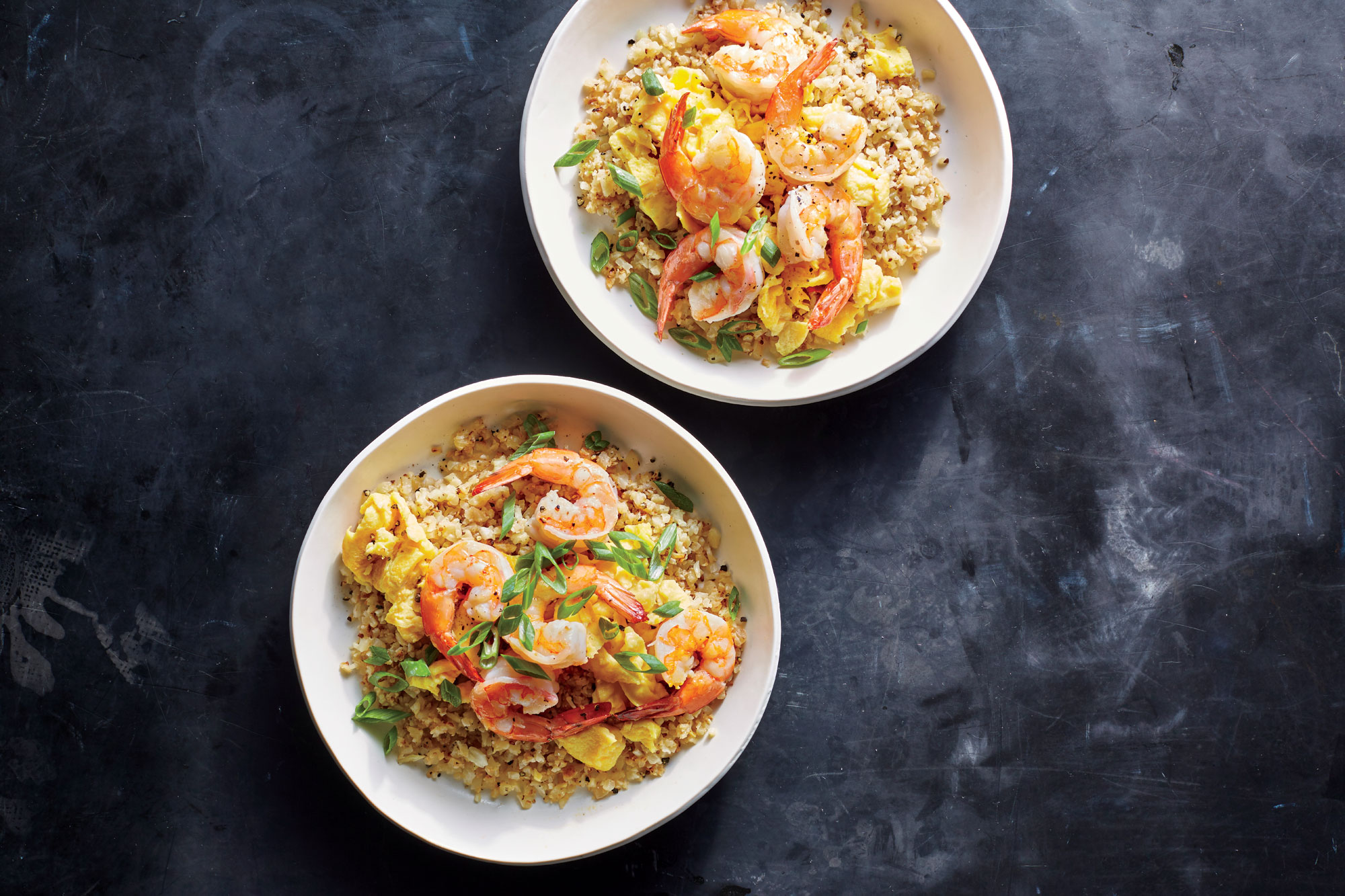 <p>Shrimp Fried Cauliflower Rice</p>