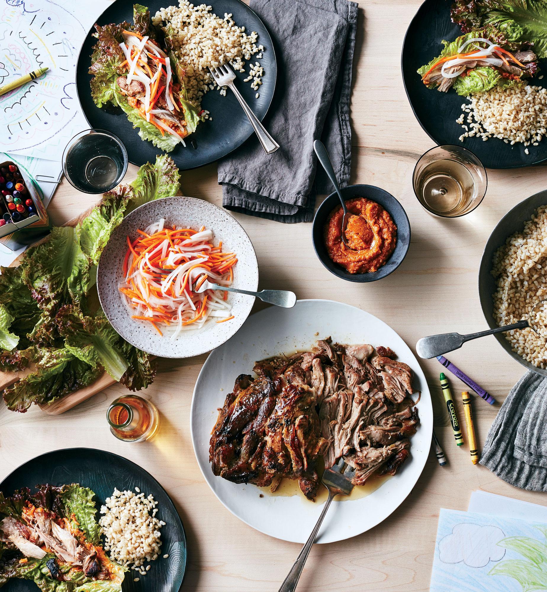 ck-Slow Cooker Korean Pork Lettuce Wraps