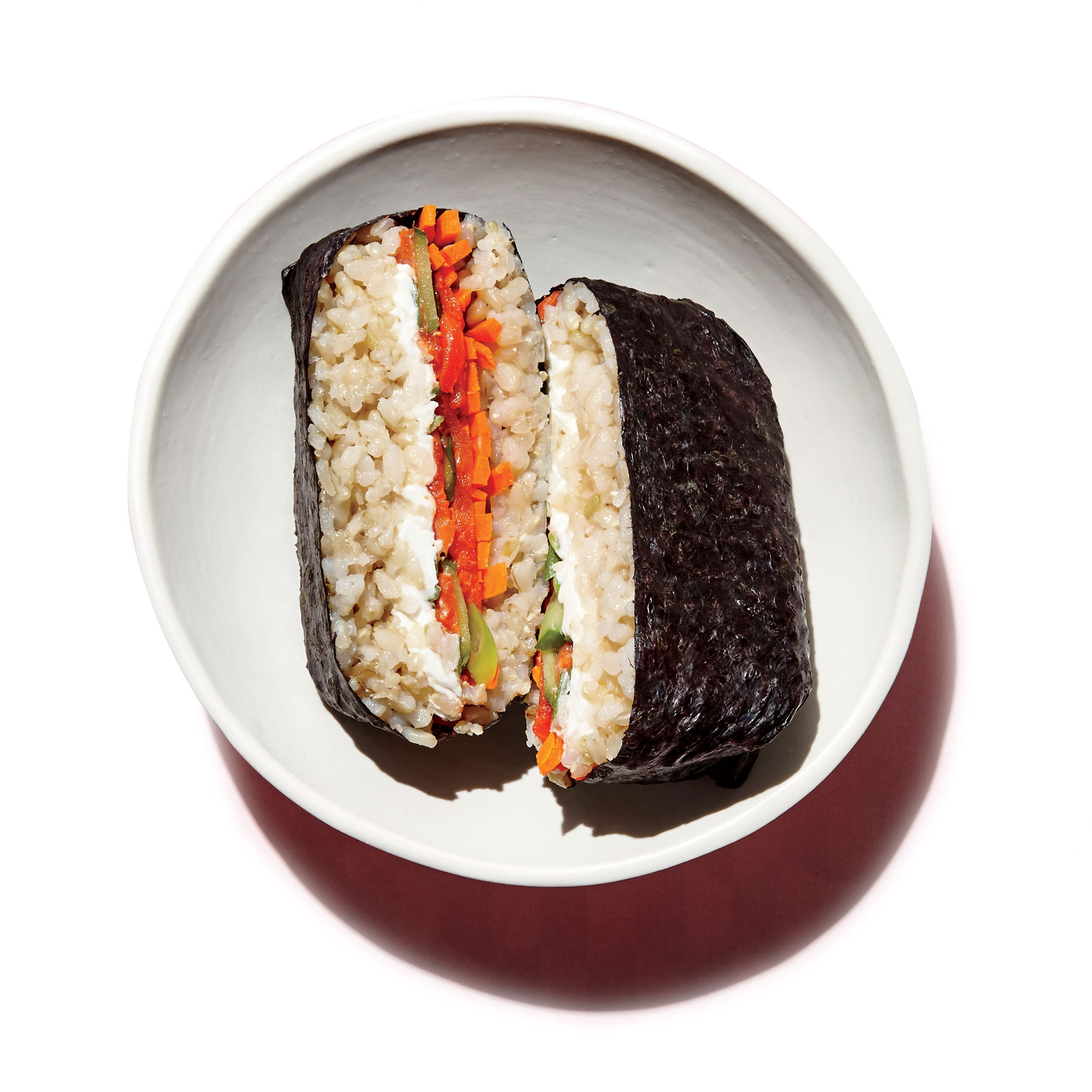 <p>Smoked Salmon Sushi Sandwiches</p>