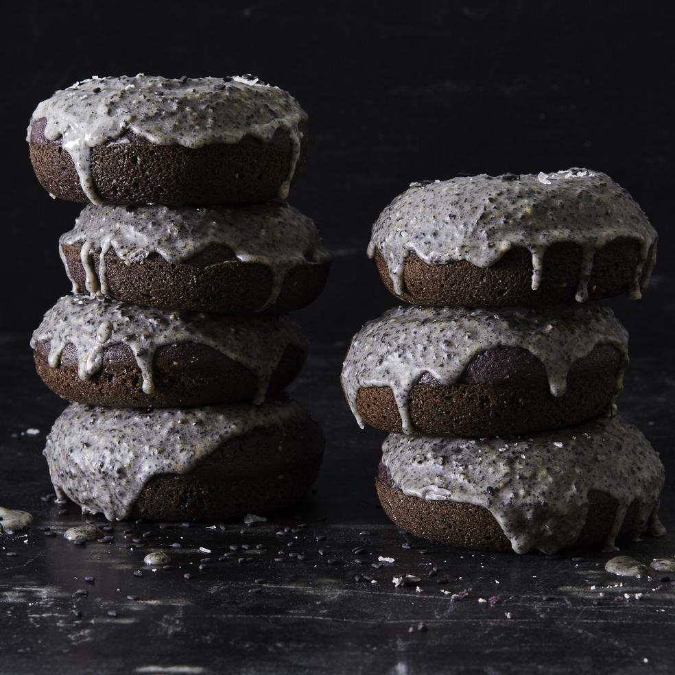 Lemon-Black Sesame Seed Doughnuts image