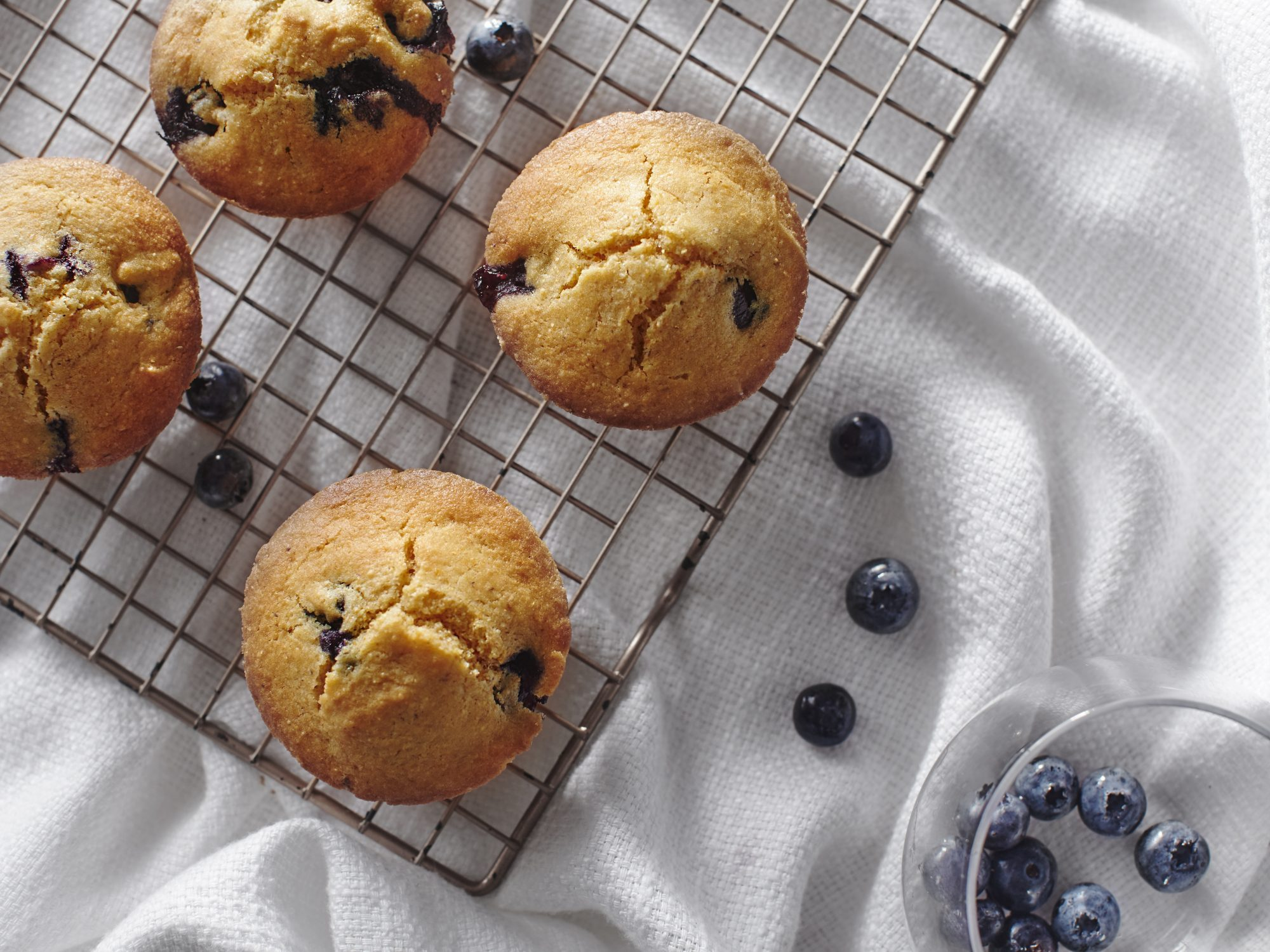 Blueberry Corn Muffins Recipe   MyRecipes