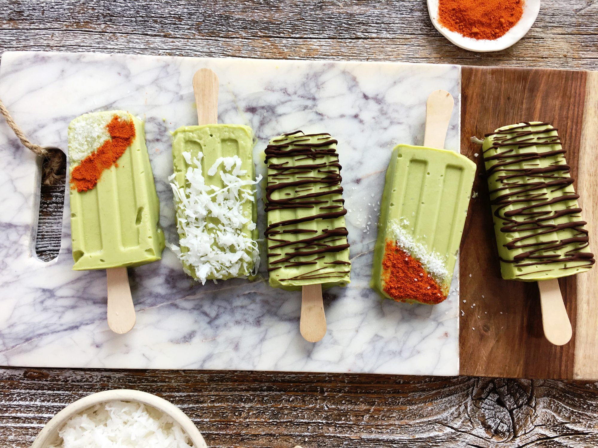 Coconut-Avocado Ice Pops