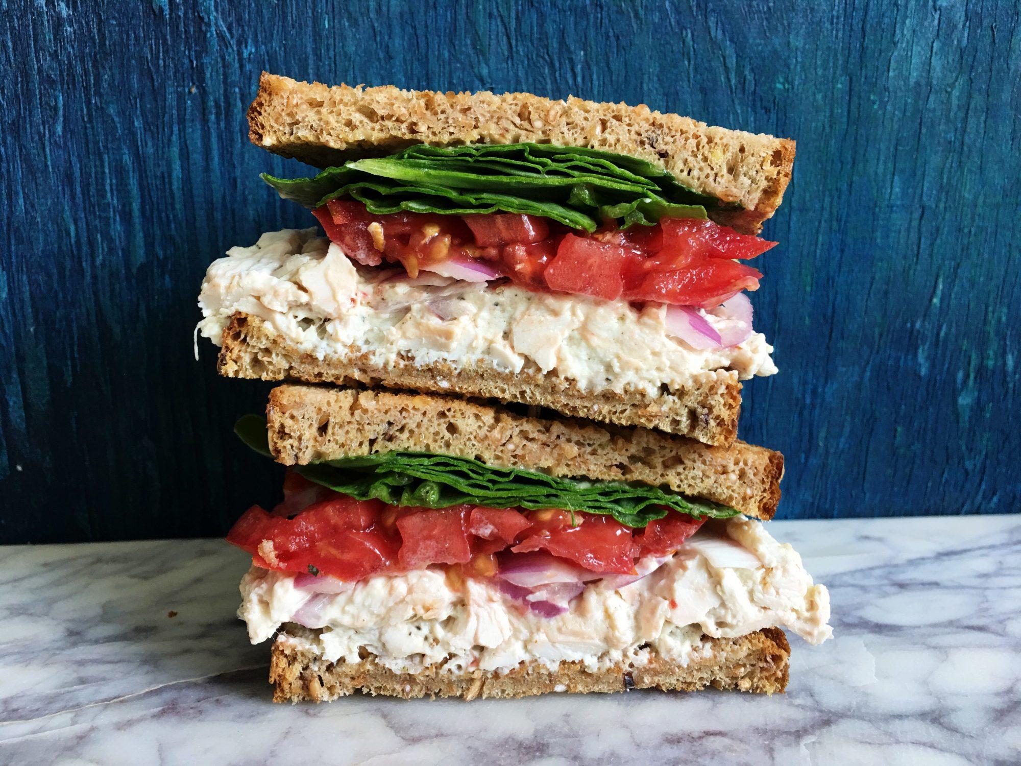 Tahini Chicken Salad Sandwich