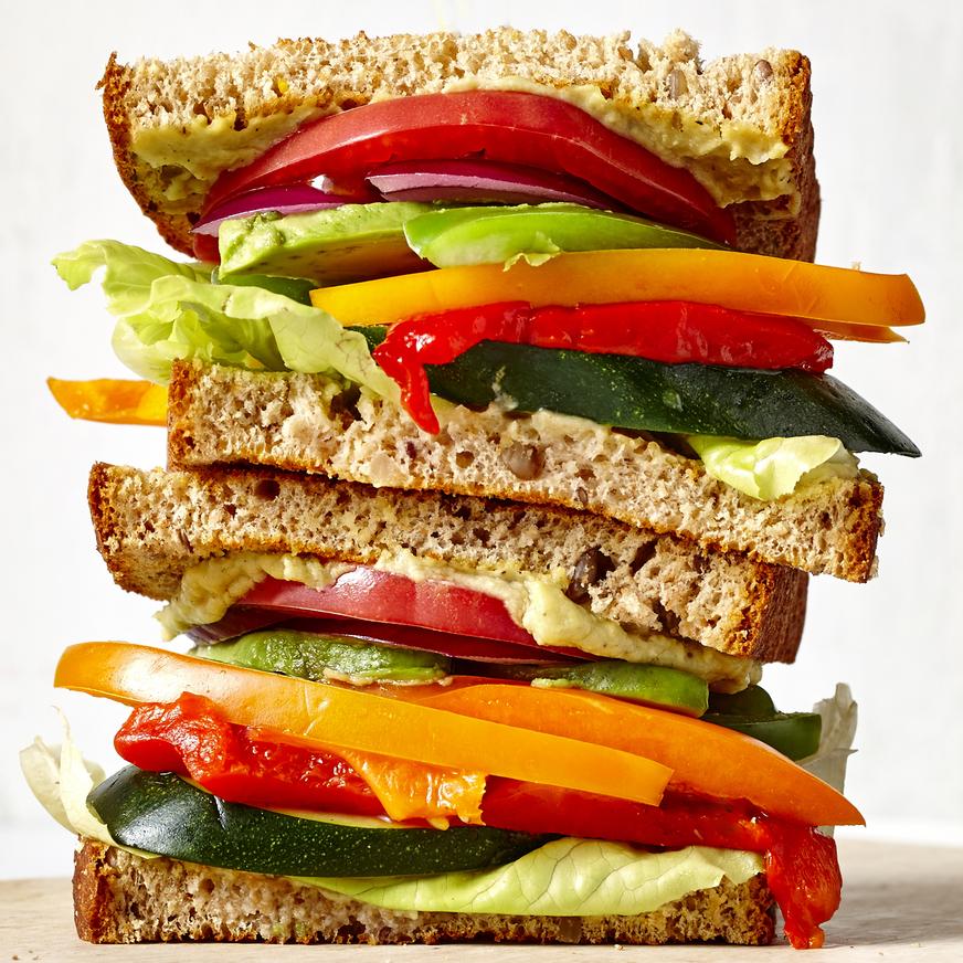 Avocado and Marinated Zucchini Veggie Sandwich image
