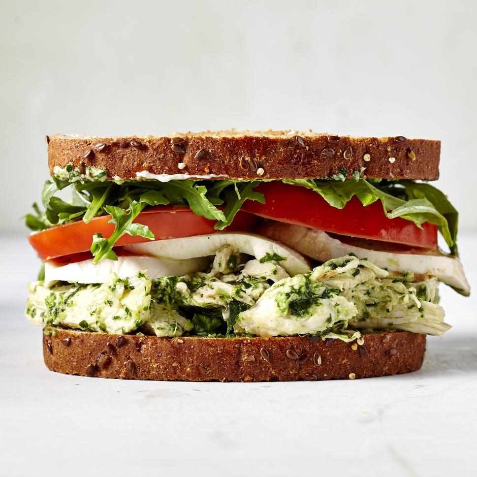 Pesto Chicken Salad Sandwich image
