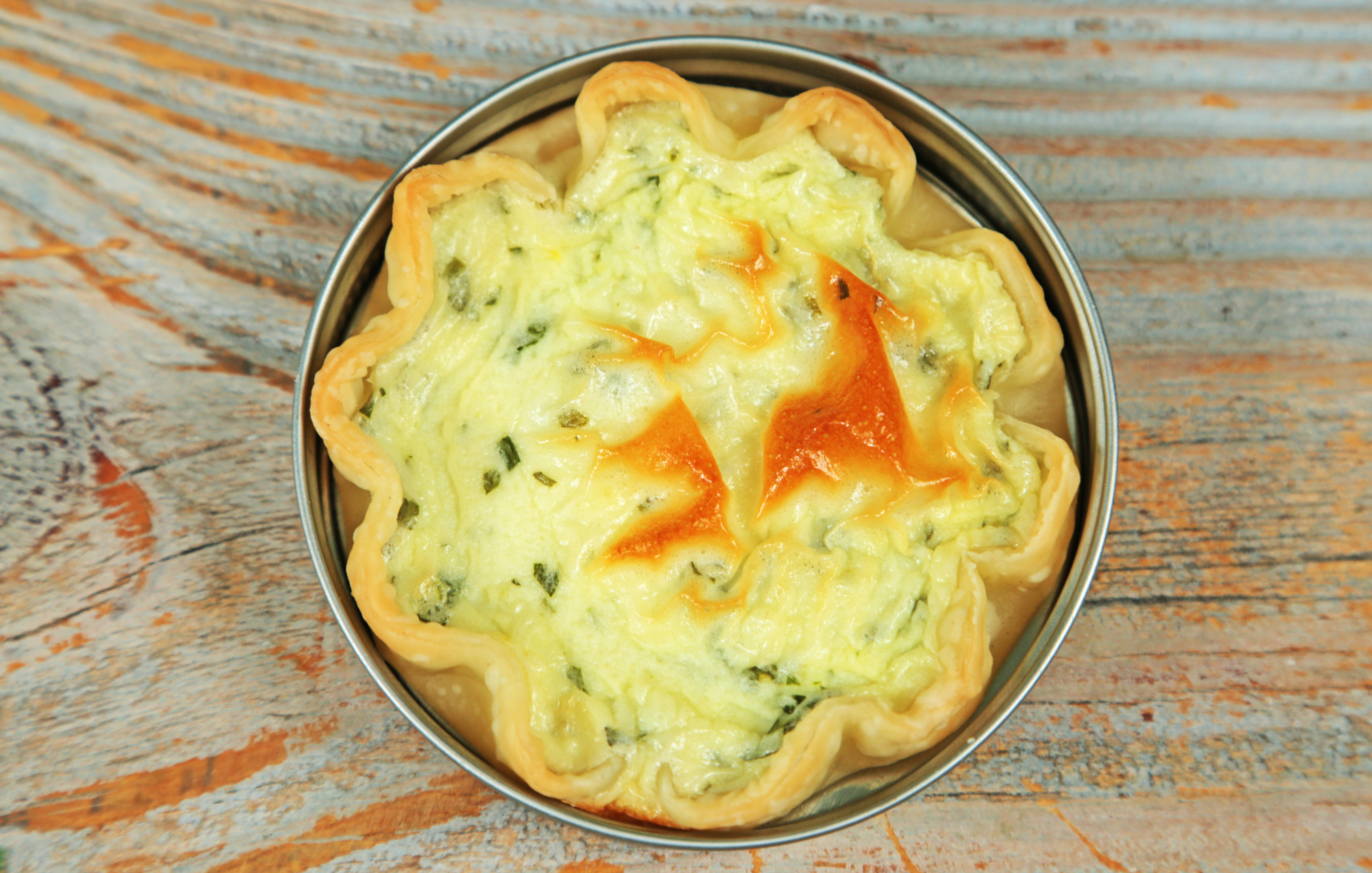 Herbed Goat Cheese and Ricotta Mini Pies image