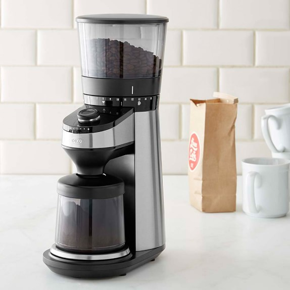 OXO On Conical Burr Grinder with Intelligent Scale