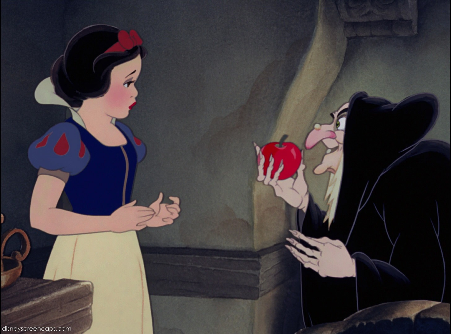 Image result for snow white biting poison apple