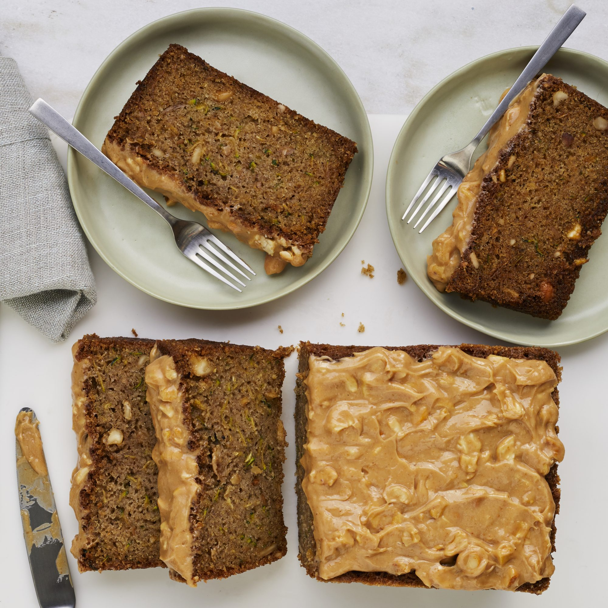 Sesame-Cashew Zucchini Bread image