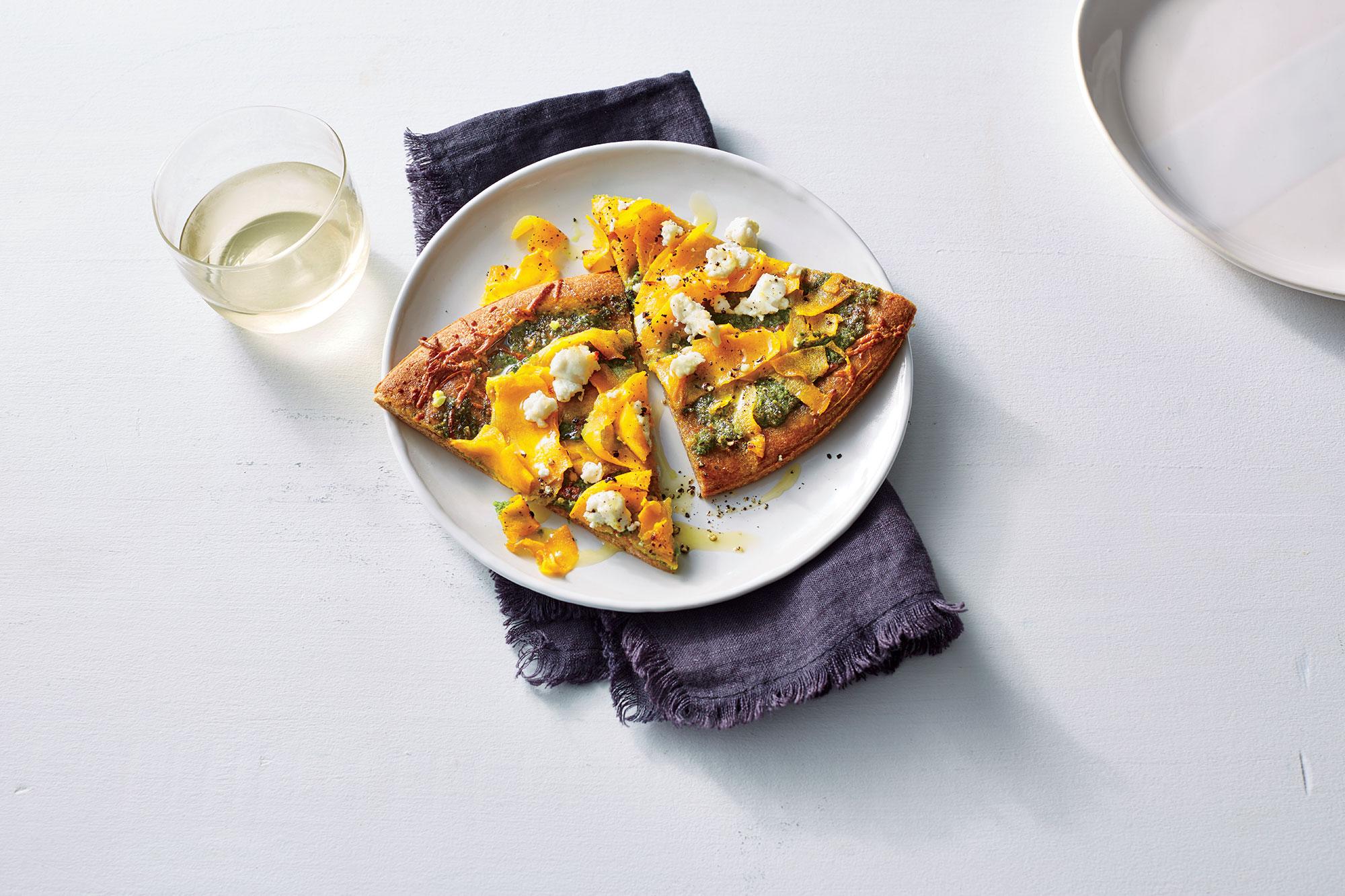 <p>Arugula Pesto Pizza</p>