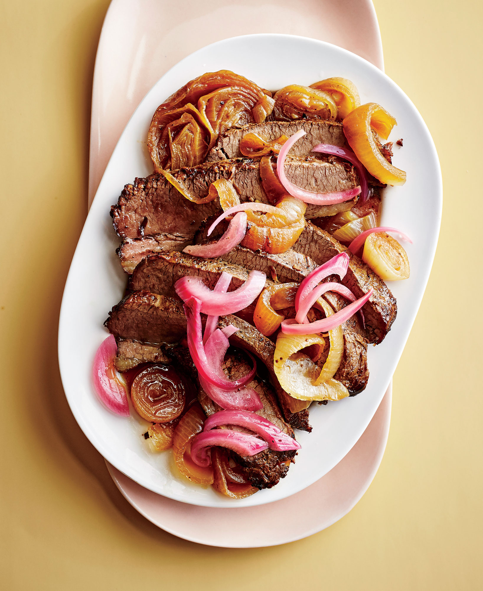 brisket-with-melted-and-pickled-onions