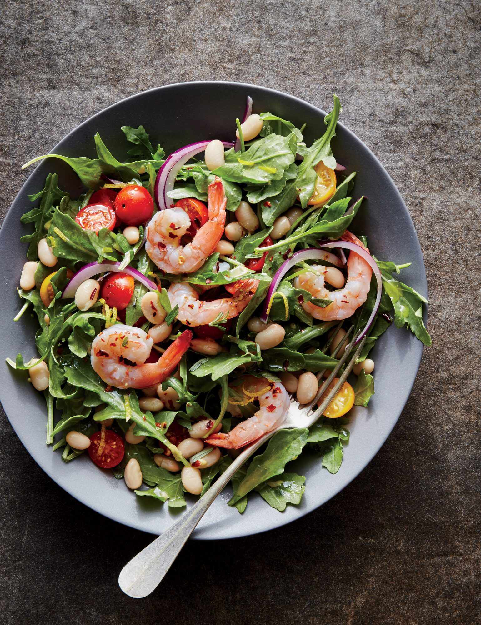 <p>Tuscan White Bean Salad with Shrimp</p>