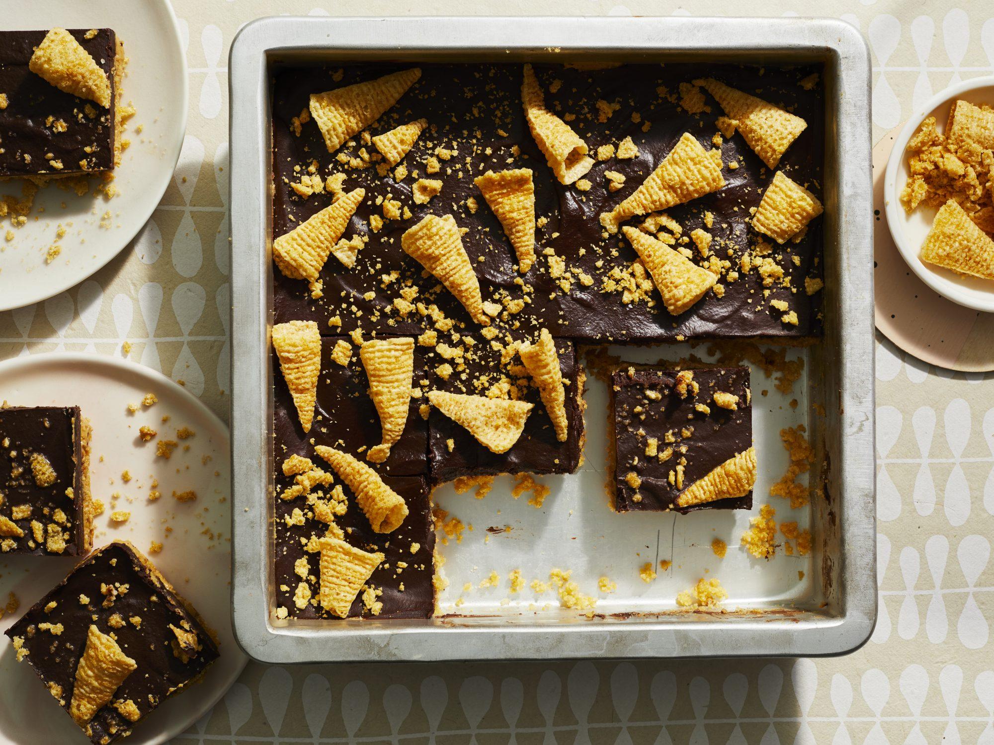 Chocolate-Peanut Butter Bugle Bars image