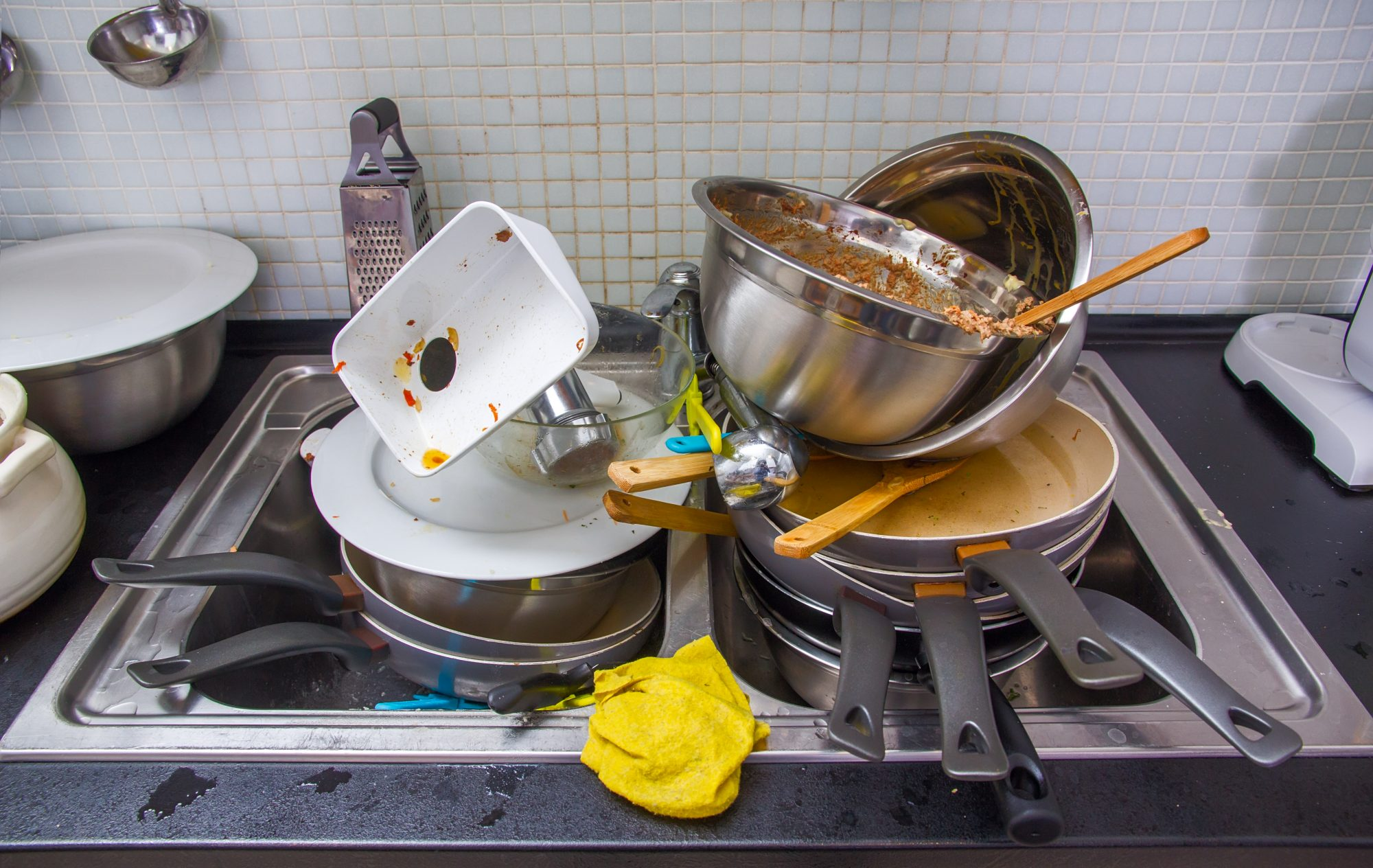 dishes sink dirty piling keep minute getty trick sergii