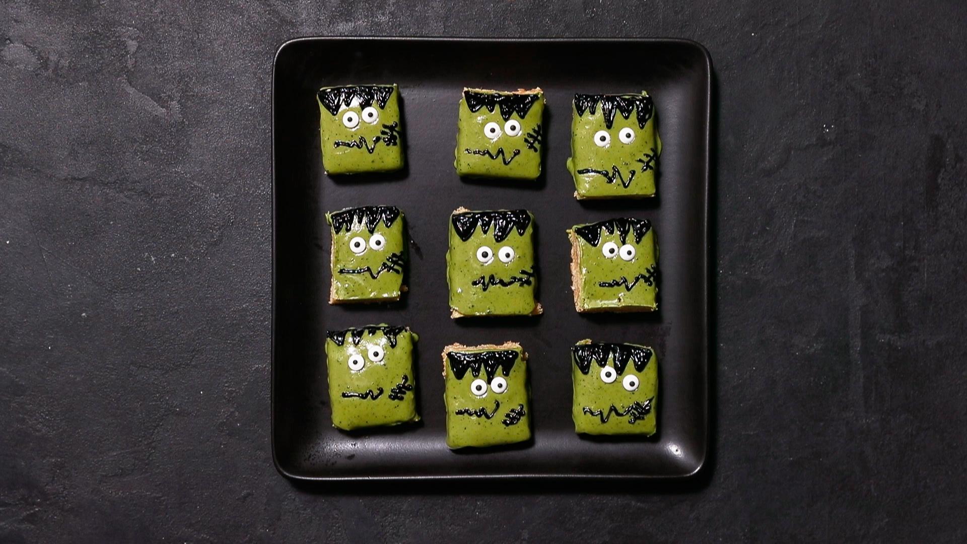 Frankenstein Cookie Bars
