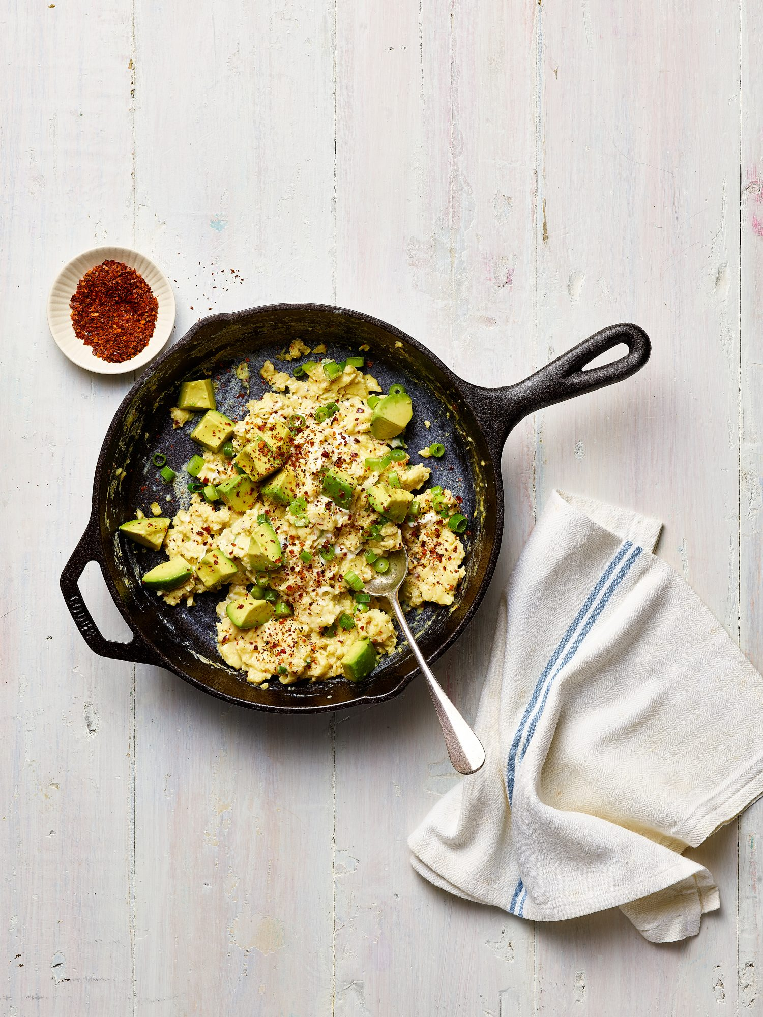 Scrambled Eggs with Goat Cheese and Aleppo Pepper