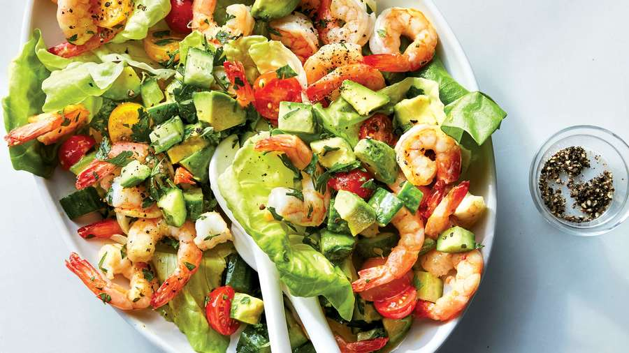 Shrimp-Tomato-Avocado Salad