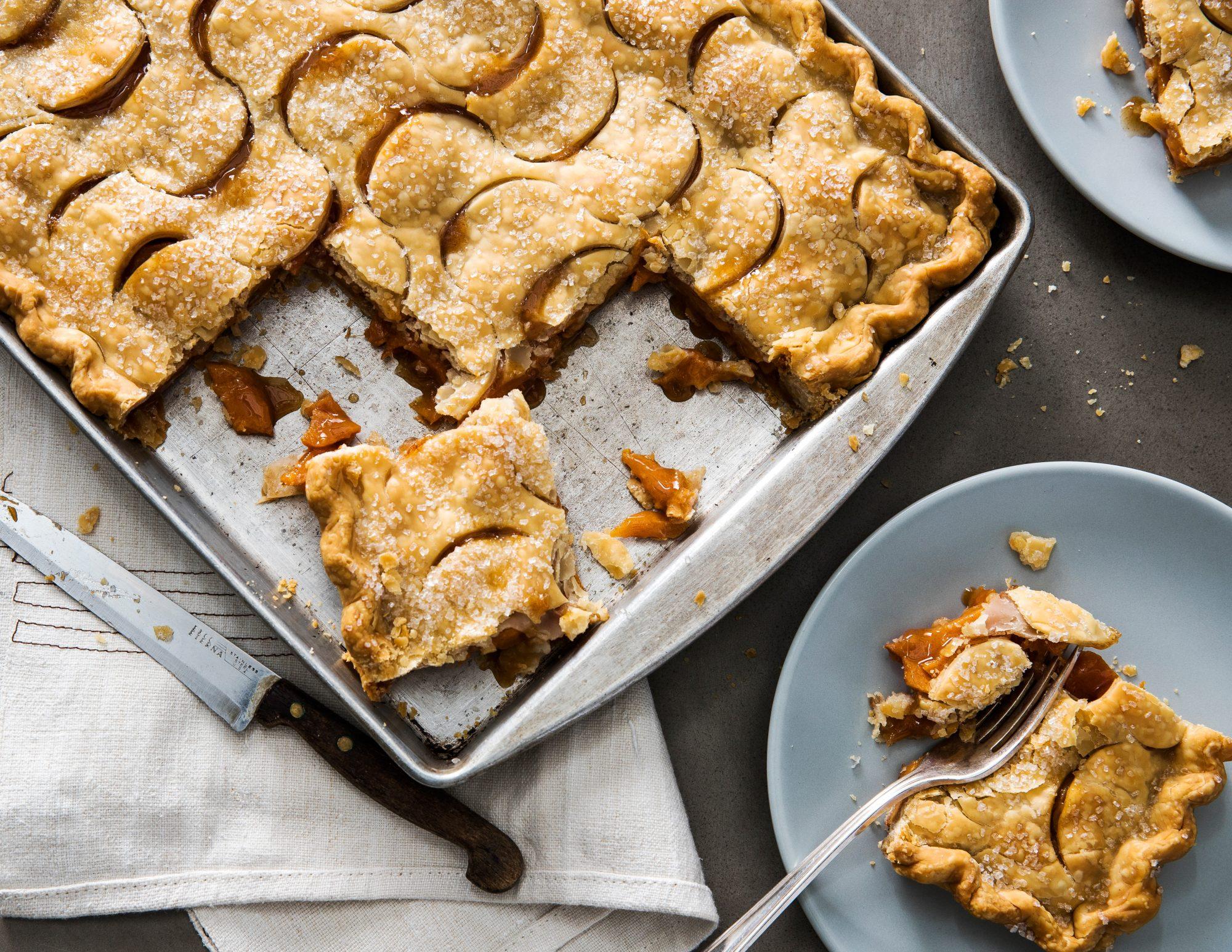 Spiced Persimmon Slab Pie