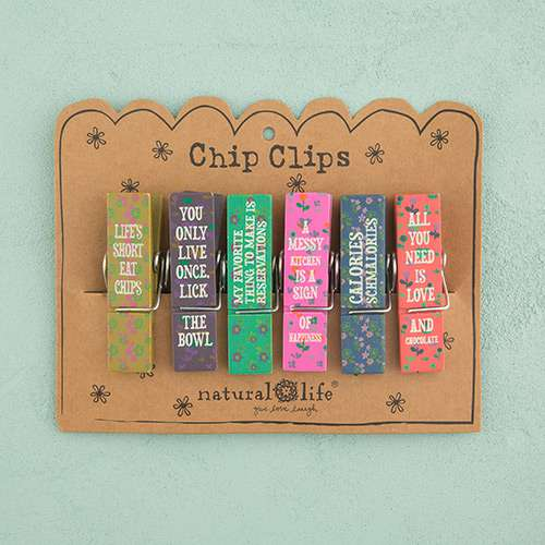 Food Fun Chip Clip Set of Six