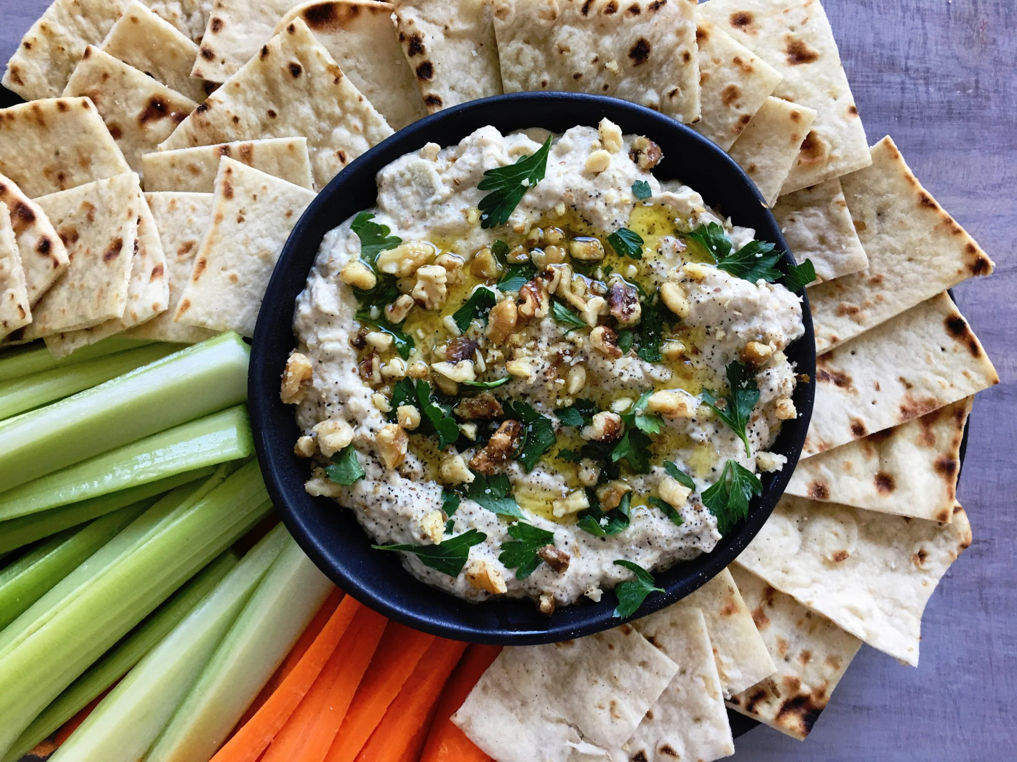 <p>Charred Eggplant Dip with Tahini</p>