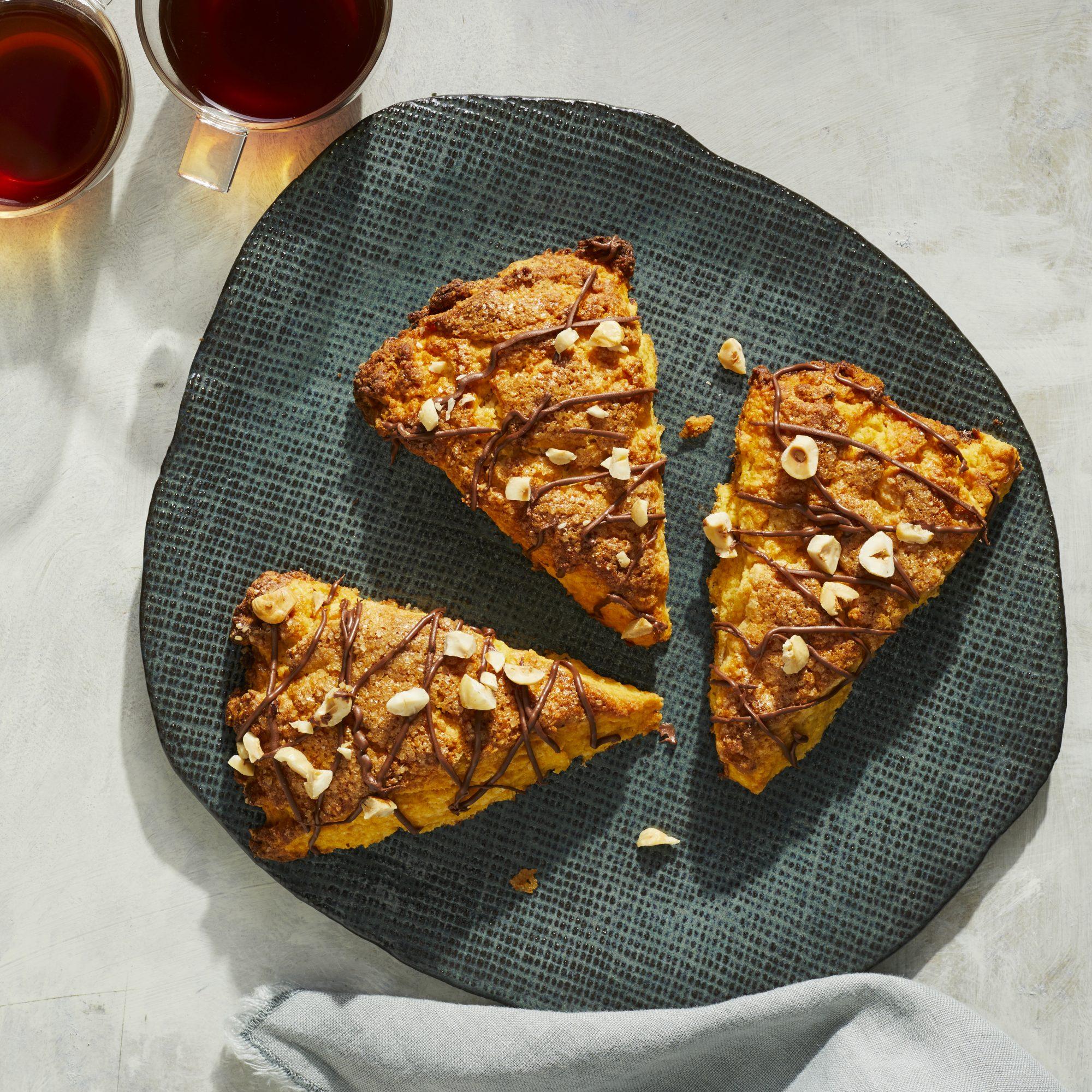 Sweet Potato-HazelnutScones with NutellaGlaze image