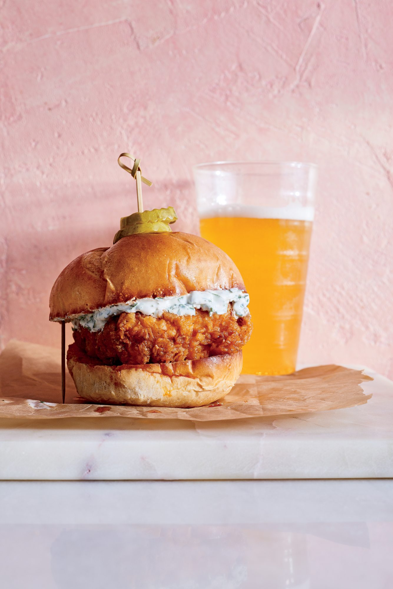 Buttermilk-Fried Nashville Hot Fish Sandwich