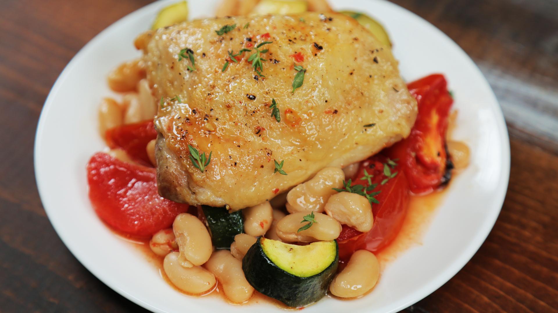 Cake Pan Tuscan Chicken Dinner image