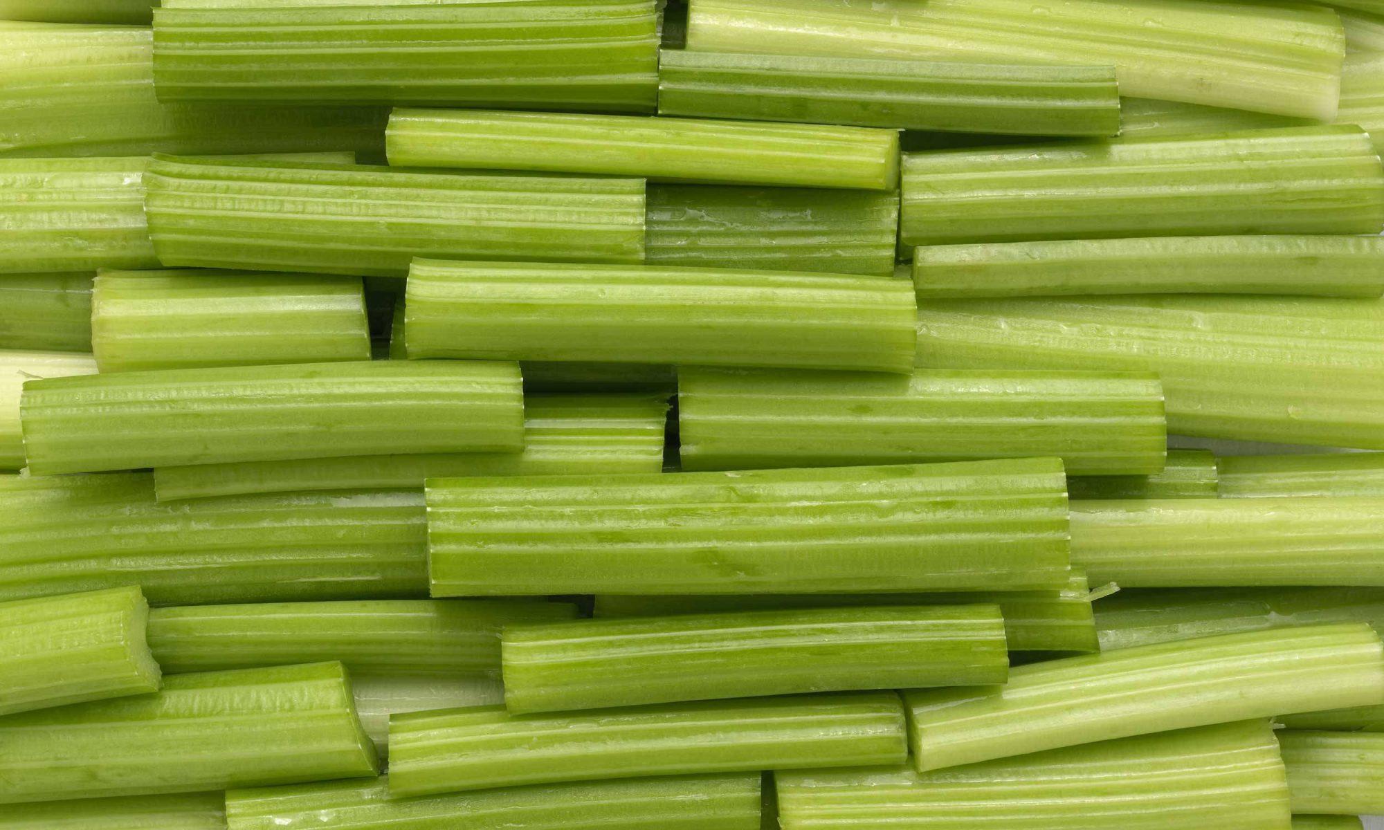 Cut up celery stalks