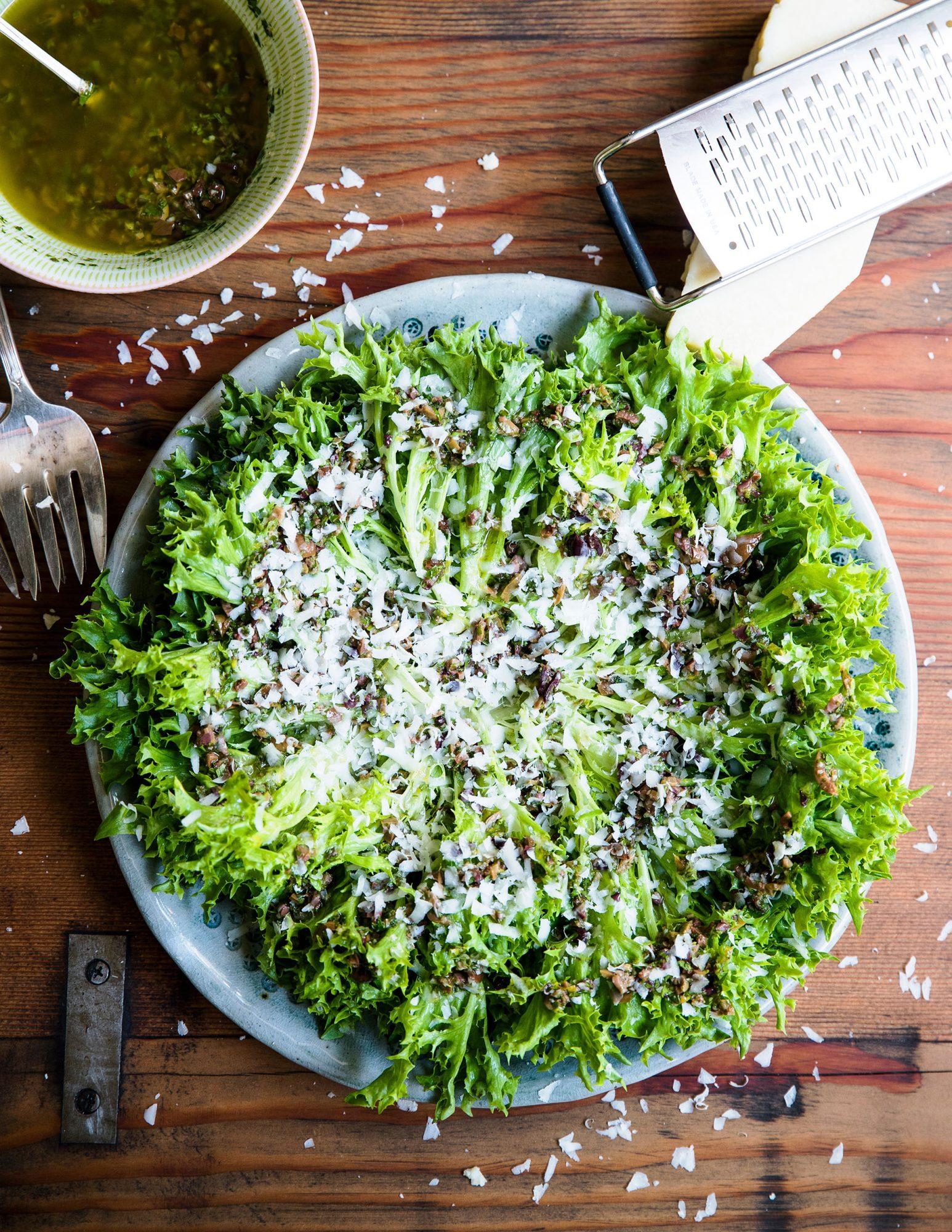 Green Salad with Olive Vinaigrette