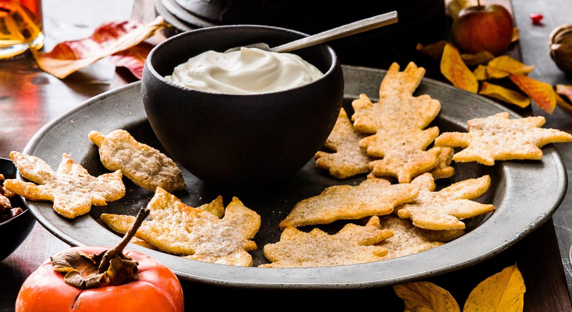 Pie-Crust Leaf Cookies