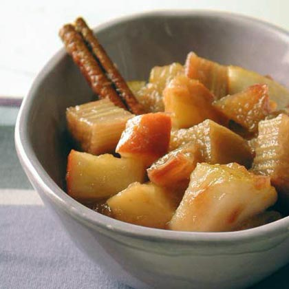 Rhubarb, Pear, and Apple Compote