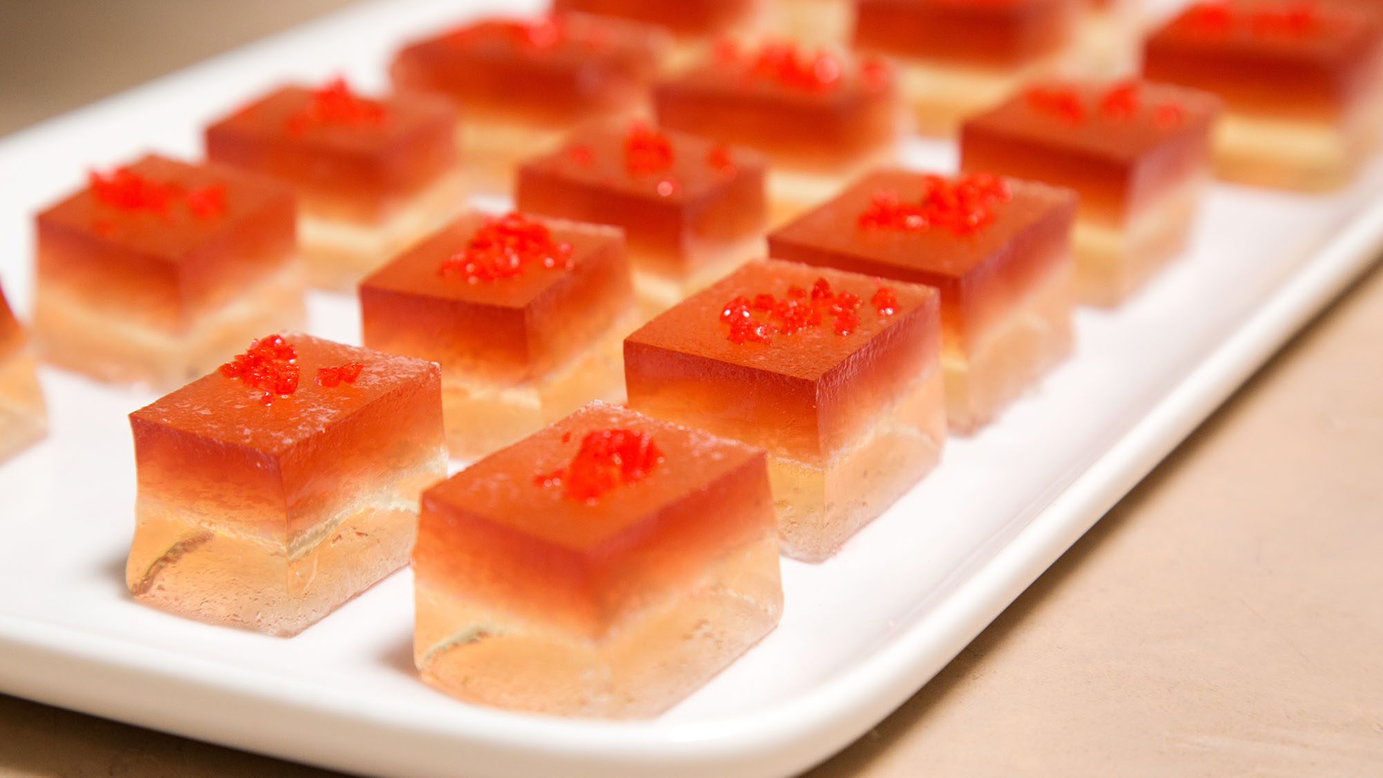 Pomegranate Champagne Jello Shots